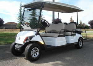Yamaha Concierge 6 passenger utility golf cart