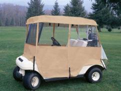 Universal golf cart enclosure
