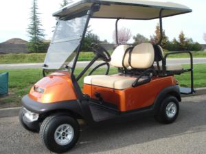 Club Car Precedent, Atomic Orange metallic color