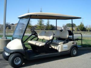 Six passenger rental golf car