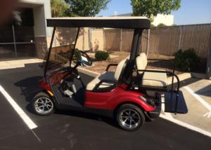Yamaha 4 passenger utility golf cart