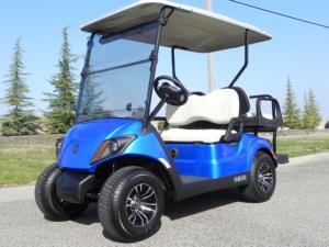 Yamaha Drive2, Aqua Blue metallic color, 4-passenger