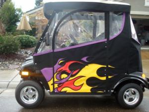 Custom Sunbrella Golf Cart Enclosure