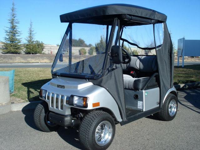 Sunbrella Enclosure – Gilchrist Golf Cars on golf cart convertible top, golf cart side curtains, golf cart rain curtains,