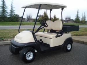 Club Car Precedent golf car with cargo box