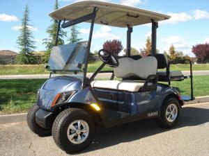 New Yamaha golf car, 4 passenger, for sale