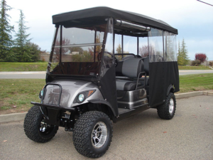 Yamaha golf cars with enclosures for sale