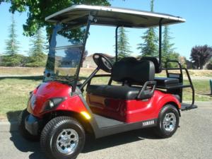 2017 Yamaha AC PTV 4 passenger golf cart