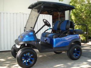 Club Car Precedent, 4-passenger with lift kit
