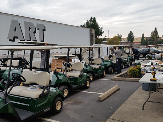 Golf cart service and maintenance
