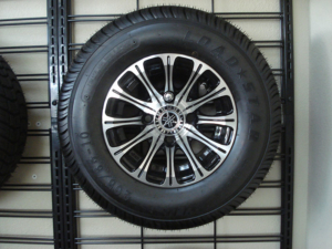 """10"""" J-series, machined with black, Yamaha OEM only golf cart wheels"""