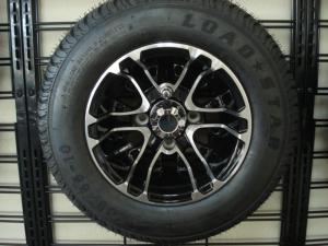 """10"""" Mercury, machined with black, Club Car OEM golf cart wheels"""