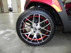 """14"""" Pursuit, machined with black and red accent"""