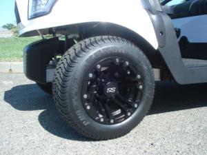 """10"""" Specter, matte black golf cart wheels"""