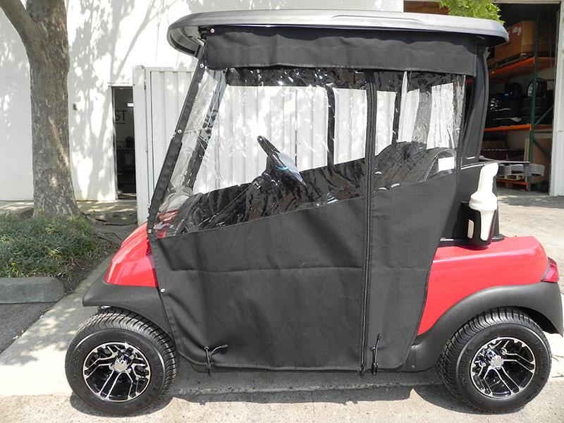 Golf Cart Enclosures | Gilchrist Golf Cars Sunbrella Golf Cart Enclosures on golf cart side curtains, golf cart rain curtains, golf cart convertible top,