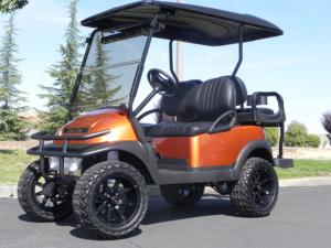 Club Car Precedent, Atomic Orange metallic color, Lift Kit