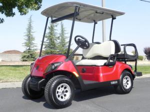 Yamaha Drive2, Jasper Red metallic color, 4-passenger