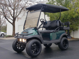 Club Car Precedent, Dark Green metallic color, Lift Kit