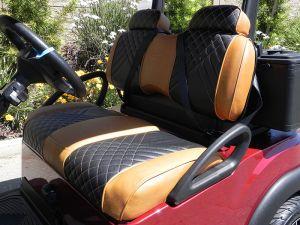 Club Car Luxury High-Back seats, Honey Beige