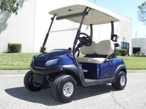 Club Car Tempo, Dark Blue color, 2-passenger with lights